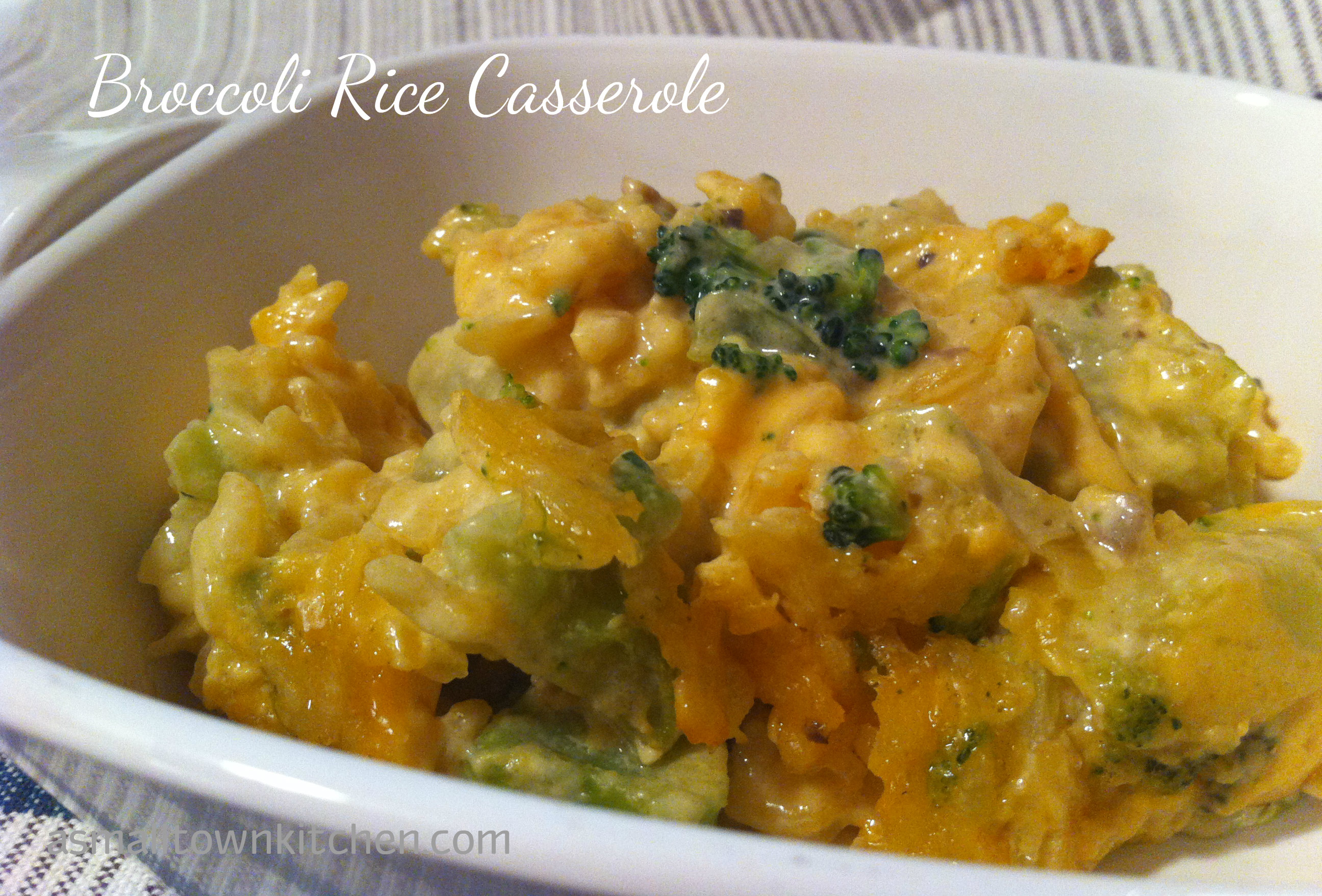 Broccoli Rice Casserole | A Small Town Kitchen