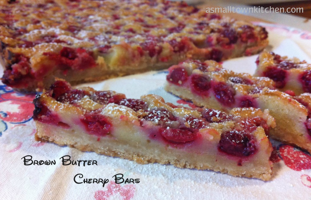 Brown Butter Cherry Bars | A Small Town Kitchen